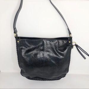 HOBO Black Leather Shoulder Bag